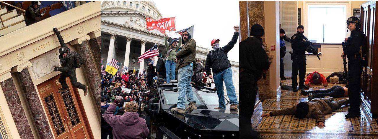 Demonstrasi di gedung Capitol Amerika Serikat
